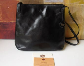 MONSAC Handbag Black Leather Chic Shoulder Bag