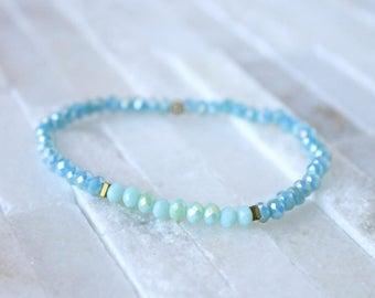 Borrowed & Blue - Skinny Stacker Beaded Bracelet