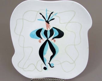 "Red Wing Kermis 8-1/2"" Plate - Rare 1957  - Charles Murphy designer"