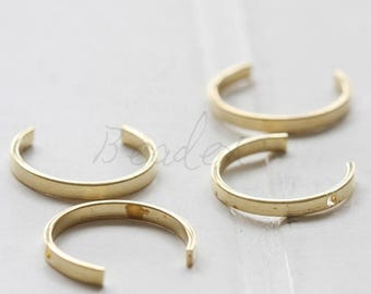 20 Pieces / Raw Brass / Curved Link / Half Circle / Open Circle / Charm (C3588//V14)
