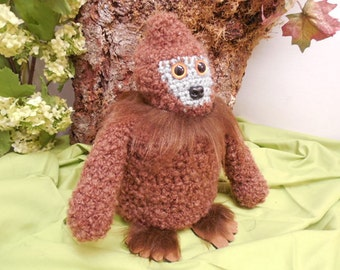 Cute Brown Bigfoot Toilet Roll Cozy, Sasquatch, Skunk Ape, Fun Bathroom Decor, Toilet Paper Cozy, Crocheted Cozy, Bath Tissue Cozy, Cryptid