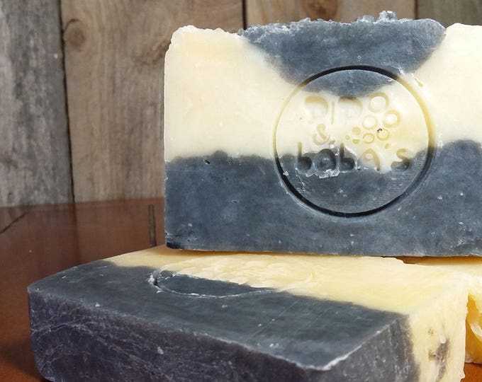 Lovely Ladies Litsea Cubeba, Tea Tree, Activated Charcoal Facial Soap -- All Natural Soap, Handmade Soap, Vegan Soap, Facial Soap