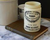 Vintage Glass Dundee Marmalade Jar. Farmhouse Decor. Shabby. Cottage.