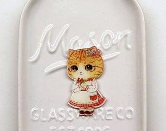 Orange Tabby Cat Needle Minder