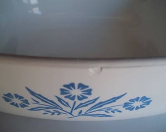 SALE***1 Corning Ware  Cornflower P-1-B with  chip on edge as pictured