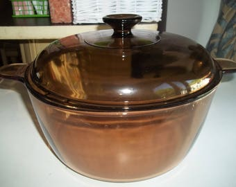 4.5 Liter Visions Corning Ware Pan USA with Lid