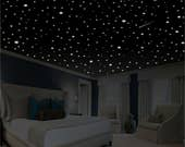 Romantic Bedroom Decor, Star Wall Decal, Glow in the Dark Stars, Romantic Gifts, Romantic Wall Decal, Glow Stars, Ceiling Stars