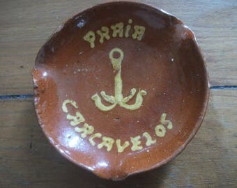 Vintage PORTUGUESE Ashtray ,Praia Carcavelos, Portugal - beach house