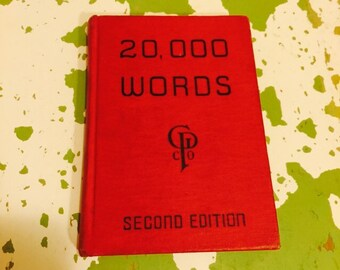Vintage 20,000 Words Office Desk Reference Book RARE HB 2nd Edition 1942
