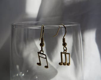 Music Notes Earrings, earrings, music, notes, dangle