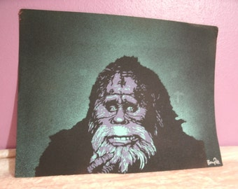 Harry & the Hendersons Original Handcut Stencil Painting on Paper 9 x 12