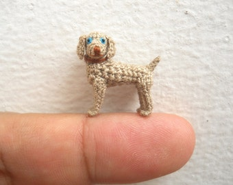 MiniatureWeimaraner  - Micro Crochet Dog Stuffed Animals - Made To Order