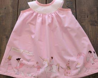 Girls Sleeveless Pink Unicorn Dress, Boutique Sundress, Girls Dress, Boutique Unicorn Dress, Girls Birthday Dress, Girls Party Dress