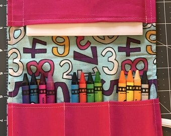 Crayon Travel Kit, Crayon Wallet, Crayon and Paper holder, numbers