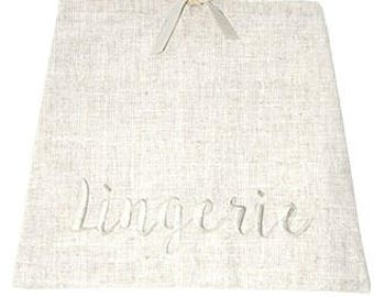 LINEN LINGERIE BAG, Bridesmaid Gifts, Bride Gift, Lingerie Party Gift, Personalized Gift, Personalized Lingerie Bag, Monogram Lingerie Bag