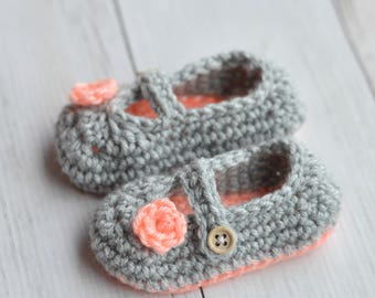 Two Toned Mary Janes Crochet Pattern DIGITAL PDF DOWNLOAD