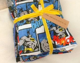 Classic Batman receiving Blanket and 2 burp cloths