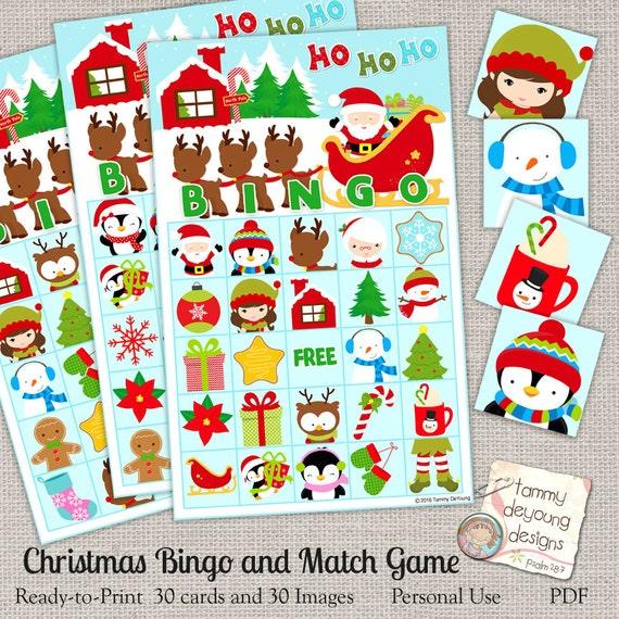 Christmas Bingo Game Printable Holiday Bingo Cards North