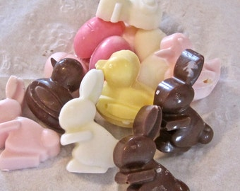 Chocolate Candy Easter Bunny Duck Favors, Wedding, Birthday 14 pieces