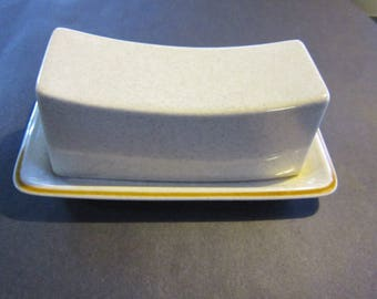 mikasa butter dish mid century butter dish japan, unusual shape