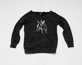 SALE Sweatshirt, Bull Terrier, Size M