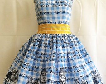 Wizard Of Oz Dress, Dorothy Dress, Wizard of Oz costume, Dorothy Costume, All Sizes By Rooby Lane