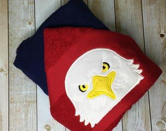 "Bald Eagle Hooded Bath Towel 27"" x 52"""