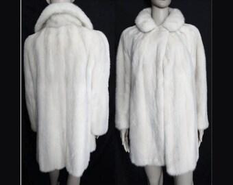 Mink Coat//Stroller Length//White Mink// Designer Mink Coat//Curtis Stewart//San Francisco