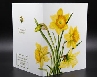 "A Bunch of Daffodils- 4.25"" X 5.5"" Note Card"