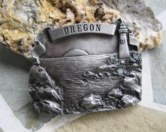 Oregon Belt Buckle. Bergamot Brass . Free US Shipping
