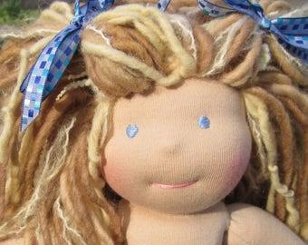 """RESERVED Custom Waldorf Girl Doll for Darlene - 10"""" Girl"""