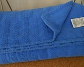 Bed Coverlet Royal Blue Woven Cotton SMITH JOHNSON Dry Goods NY