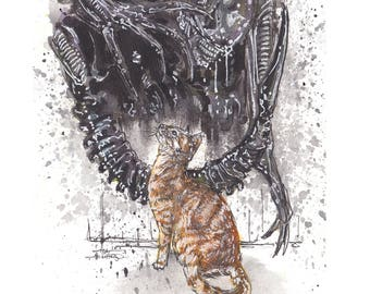 Alien Jonesy 11x14 Signed and Numbered Art Print