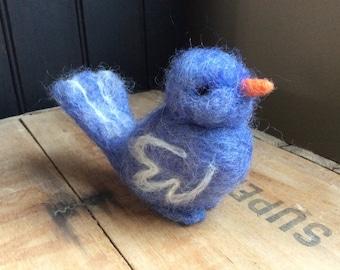 Needle Felted Bluebird Felted Woodland Bird
