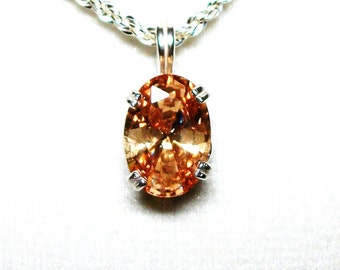 "Imperial topaz, imperial topaz pendant, topaz  pendant, red orange yellow, statement pendant pendant , statement pendant , ""Imperial Girl"""