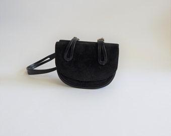 Tidy Vintage Leather Suede Shoulder Handbag