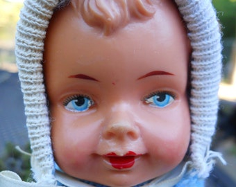 Wind-up Crawling Baby Doll West Germany