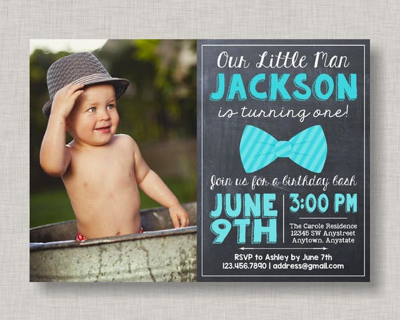 Little man birthday invitation bow tie birthday invitation little il570xn filmwisefo