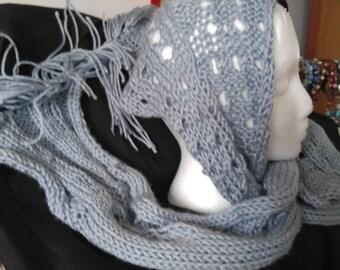 Soft and silky scarf. Grey Heather.