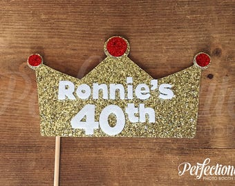 Custom 40th Birthday Crown | 40th Photo Booth Prop