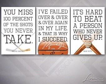 Sports Life Quotes Gorgeous Sports Quote  Etsy