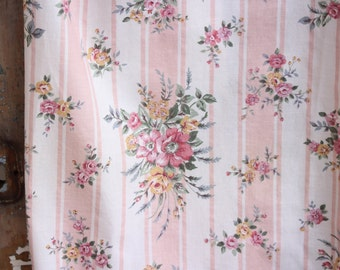 Vintage cabbage rose fabric – Etsy