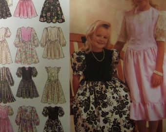 RUFFLED DRESS Pattern • Simplicity 8967 • Girls 8-14 • Party Dress • Puff Sleeves • Sewing Patterns • Childrens Patterns • WhiletheCatNaps