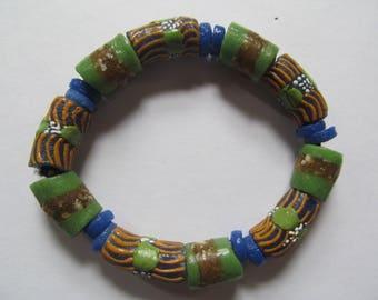 Blue & Green African Bracelet