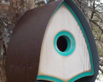 MID-CENTURY BIRDHOUSES | Modern Birdhouse | Outdoor Bird Houses