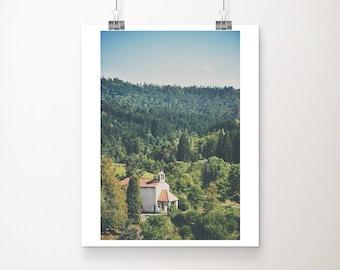 church photograph Slovenia photograph travel photography architecture photograph Predjama photograph church print Slovenia print