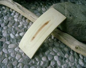 Wood HAIR BARETTE - From JUNIPER Handcrafted Wooden Hair Barette