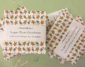 Sugar Plum Christmas charm pack by Bunny Hill Designs for moda fabrics