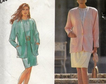 "CLEARANCE Careerwear Blazer Skirt and Blouse Sewing Pattern Women's Clothes Simplicity 7443 Size 10-18 Bust 32.5-40"" UNCUT"