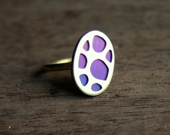 Organic Patterns Ring, One of a Kind, size 6